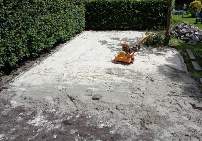 Zandbed wordt aangetrild